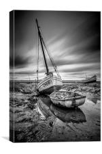 """Sheldrakes Lower Heswall"", Canvas Print"