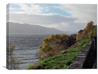 A Stormy Loch Ness, Canvas Print