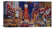 Time Square New York City, Canvas Print
