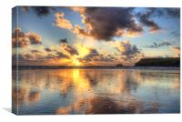 Polzeath Beach, Canvas Print