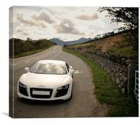 Audi R8 Snowdonia Colour, Canvas Print