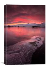 Rannoch moor Scottish sunrise, Canvas Print
