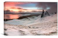 Sunrise at the the old man of Storr, Canvas Print