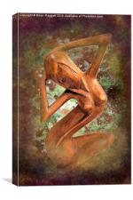 Carved African  Nude Female, Canvas Print