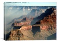 Morning Mist in Grand Canyon, Canvas Print