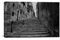 Valletta steps, Canvas Print