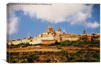 Mdina, The silent city, Canvas Print