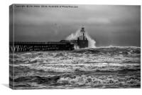 Storm in Black & White, Canvas Print