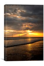 Golden start to the day, Canvas Print