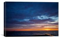 Another North Sea Sunrise, Canvas Print