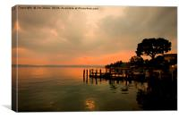 Sirmione Sunset, Canvas Print