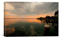 Goodnight Sirmione, Canvas Print