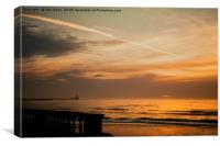 Sunrise from the promenade at Blyth (2), Canvas Print
