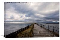 Tynemouth pier in perspective, Canvas Print