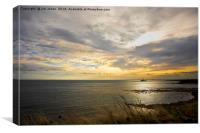 September morning seascape, Canvas Print