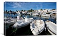 The Marina at Cala'n Bosch, Menorca, Canvas Print