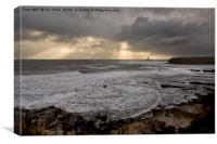 Stormy Northumbrian Morning, Canvas Print