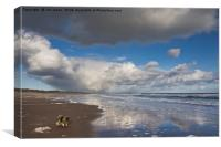 Reflections on Druridge Bay, Canvas Print