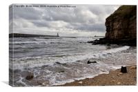 The mouth of the River Tyne, Canvas Print