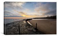 Early morning at Cullercoats Bay , Canvas Print
