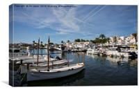 The Marina at Cala'n Bosche, Menorca, Canvas Print