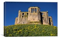 Warkworth Castle Keep in springtime, Canvas Print