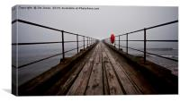 The Old Wooden Pier in Perspective, Canvas Print