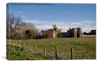 Warkworth Castle in springtime, Canvas Print