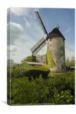 Windmill and a bicycle, Canvas Print
