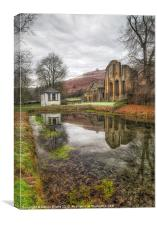 Welsh Abbey, Canvas Print