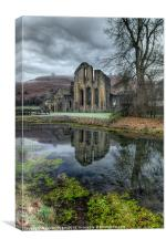 Abbey Reflection, Canvas Print