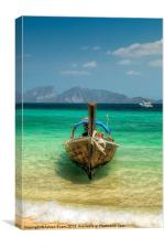 Wooden Longboat, Canvas Print