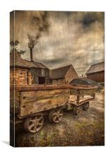 Victorian Colliery, Canvas Print