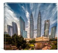 Twin Towers KL, Canvas Print