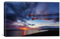 Breitling Wingwalkers Sunset, Canvas Print