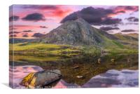 Tryfan Mountain Sunset, Canvas Print