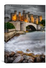 Conwy Castle At Night, Canvas Print