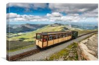 Mountain Train, Canvas Print