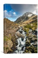 Tryfan and Ogwen Falls, Canvas Print