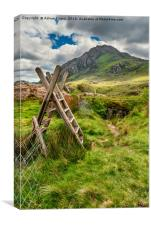 Stile To Tryfan Mountain, Canvas Print