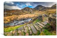 Entrance Gate Cwm Idwal Snowdonia, Canvas Print