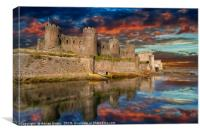 Conwy Castle Sunset, Canvas Print