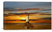 Point of Ayr Lighthouse Sunset, Canvas Print