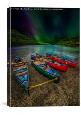 lake Geirionydd Canoes, Canvas Print