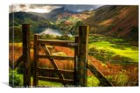 Valley Gate Snowdonia, Canvas Print