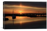 Reflections of a beautiful sunset, Canvas Print