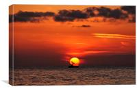 Sunset from Hunstanton beach, Canvas Print