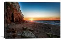 Hunstanton cliffs at sunset, Canvas Print