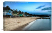 Early morning on Wells beach, Canvas Print