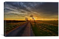 The road in to Ringstead, Canvas Print